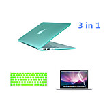 Crystal 3 in 1 Full Body Case with Keyboard Cover and HD Screen Protector for Macbook Retina 13.3