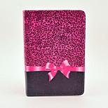 Fashion Design COCO FUN® Purple Leopard Pattern PU Leather Flip Stand Case for Apple iPad mini 1/2/3