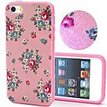 2-in-1 bling bling fiori rosa modello pc copertura posteriore con il caso duro shockproof pc respingente per il iphone 5g / 5s