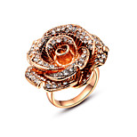 Z&X® Europe Style Zircon Rose Statement Rings Wedding/Party/Daily
