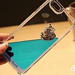 líquido fluido diseño divertido que fluye cristalina pato amarillo claro cubierta de la caja de plástico duro para el iphone 5 / 5s