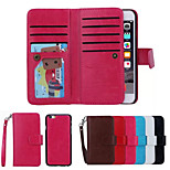 PU Leather Special Design Full Body Cases Detachable 9 Card Wallet For iPhone 6 Plus(Assorted Color)