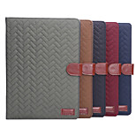 Plaid Style PU Leather Case Card Slots with Holder for iPad Air 2 (Assorted Colors)