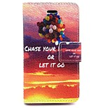 Balloon Pattern PU Leather Material Card Full Body Case for iPhone 4/4S