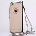Correa frontera combo TPU y de flash casos de la cubierta de polvo para iphone 6 más (colores surtidos)