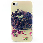 Nest Pattern TPU Phone Case for iPhone 4/4S