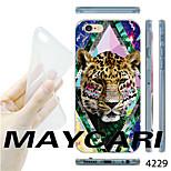 Leopard Pattern Transparent TPU Soft Back Case for iPhone 6