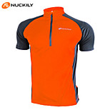NUCKILY® Unisex Short Sleeve  Cycling Jersey/Tops Waterproof/Breathable Totally Waterproof Moisture PermeabilityQuick Dry