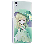 Msvii Ultra-thin Personality relievo & colored drawing Cases/Covers for HUAWEI P7
