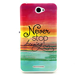 Never stop  Pattern TPU Soft Case for Sony E4