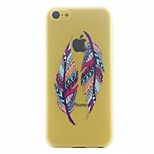 Double Feather Pattern Ultrathin Hard Back Cover Case for iPhone 5C