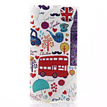 Car Pattern Material TPU Soft Phone Case for Sony Z4