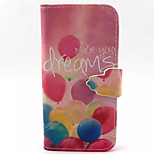 Pink Balloons  Pattern PU Leather Phone Case  For iPhone 5/5S