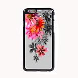 Red Flower Design Aluminum Hard Case for iPhone 6