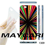 MAYCARI®Colorful Radiation Pattern TPU Soft Transparent Back Case for iPhone 6