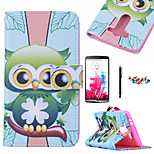 KARZEA™Green Owl Pattern PU Leather Case with Screen Protector and Stylus and Dust Plug for LG G3Mini/LG L90