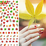 Water Transfer Printing Maple Leaf Pattern Nail Stickers NO.003