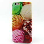 Ice Cream Pattern TPU Material Soft Phone Case for iPhone 6