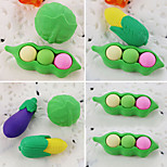 Cartoon Vegetable Cabbage Pea Corn Detachable Rubber Eraser (Random Color)