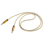 3.5mm macho a cable aux car audio macho (100cm) (colores surtidos)
