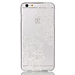 Hollow Flower Pattern Ultrathin Hard Back Cover Case for iPhone 6 Plus