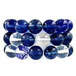 Beadia 39Cm/Str (Approx 39Pcs) Natural Watermelon Blue Quartz 10mm Round Blue Stone Loose Beads DIY Accessories