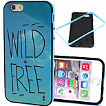 Blue Sky  Pattern TPU + PC Border Phone Case For iPhone 6