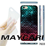 MAYCARI®Gradient Color Gird Pattern TPU Soft Back Case for iPhone 6