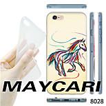 MAYCARI®Graffiti Trojan Pattern TPU Soft Transparent Back Case for iPhone 6