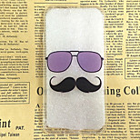 Mustache and Glasses Pattern TPU Soft Back Case for iPhone 6/6S