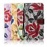 삼성 갤럭시 노트 5 가장자리 스탠드 5.4 인치 자수 패턴 캔버스 지갑 가죽 케이스 (모듬 색상)