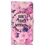 blomster mønster pu læder malet telefon tilfældet for Galaxy Note 3, note 4