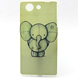 Elephant Pattern TPU Material Soft Phone Case for Sony Z3 Mini