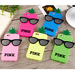 Second Generation of Pineapple Glasses Silicone Soft Shell for iPhone 6 Plus(Assorted Colors)