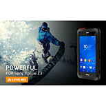 LOVE MEI Shockproof Dirtproof Snowproof Aluminum Alloy and Silicone Back Case for SONY Xperia Z3 - Black