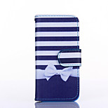 Bow Pattern PU Leather Material Card Full Body Case for iPhone 5C