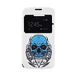 Skull Pattern PU Leather Phone Case fo Alcatel C7