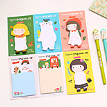 Apron Girl Series Self-Stick Note(Random Color)