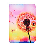 Fashion Design COCO FUN® Pink Yellow Dandelion Pattern PU Leather Flip Stand Case for Apple iPad mini 1/2/3