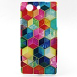 Color Cube Pattern TPU Material Phone Case for Sony Z3 Mini