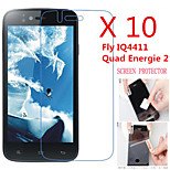 (10 Pcs) High Definition Screen Protector Flim for Fly IQ4411 Quad Energie 2