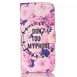Flowers Pattern PU Leather Phone Case For iPhone 5C