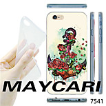 MAYCARI®Rose Anchor Pattern TPU Soft Transparent Back Case for iPhone 6
