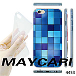 MAYCARI®Gradient Blue Mosaic Pattern TPU Soft Transparent Back Case for iPhone 6