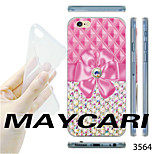 MAYCARI®Pink Bowknot Pattern TPU Soft Transparent Back Case for iPhone 6