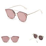 Women's 100% UV400 Aviator Metal Sunglasses