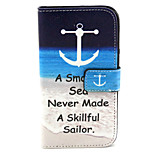 Fashion Design COCO FUN® Sea Sailor Pattern PU Leather Wallet Case Cover for Wiko Bloom