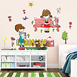 Wall Stickers Wall Decals Style Boys And Girls Learning Little Partner PVC Wall Stickers