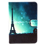 Love Tower  Pattern PU Leather Full Body Case with Stand for iPad mini 1/2/3