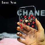 Luxury Crystal Diamond Flower Ultra Slim Transparent Electroplate Back Case Cover for iPhone 6
